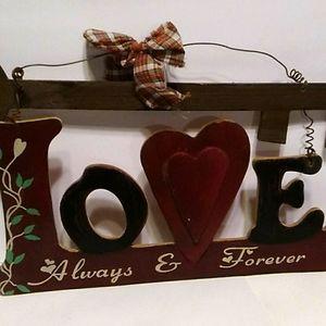 Hobby Lobby Wooden  Love Sign